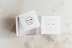 Gift boxes designed and created for the wedding of Leona & Andrew. Photo by Christine Meintjes