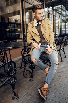 Zara Shoes, Diesel Jeans, HM Sweater, Bershka Coat, HM Shirt #fashion #mensfashion #menswear #mensstyle #style #outfit #ootd