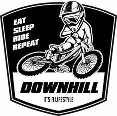 Downhill MTB Motiv für T-Shirt, Hoodie und Sticker Downhill Bike, Bike Mtb, Road Bike, Cycling Art, Cycling Bikes, Cycling Quotes, Cycling Jerseys, T Shirt Designs, Logo Branding