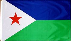 Djibouti National Country Flag - 3 foot by 5 foot Polyester (New) . $3.84