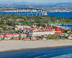 CORONADO HOTEL ON CORONADO BEACH  ,SAN DIEGO. And SAN DIEGO -CORONADO BRIDGE