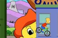 THE SIMPSONS BMX - Sube a la bici de Bart Simpson y pasea por las calles de Springfield realizando todas las piruetas que puedas. Necesitarás conseguir 500 puntos para ganar el campeonato de BMX!