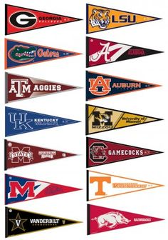 acc college pennant set by college flags and banners co