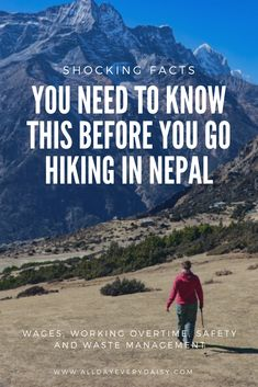 Every year a lot of people try to catch a glimpse of Mount Everest. But at what cost? These are 6 shocking facts you need to know before you go hiking. China Travel, India Travel, Travel Nepal, Travel Advice, Travel Guides, Travel Tips, Travel Abroad, Go Hiking, Hiking Tips