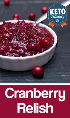 Cranberries are a staple for the Holiday Season, and we put our KETO//OS® spin a classic. Our cranberry relish is the perfect sweet side to the big savory meal!