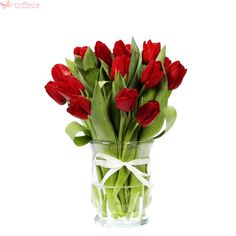 Transparent Vase With Red Tulips - Indira Gandhi Memorial Tulip Garden Flower Bouquet Floristry PNG - vase, art, color, cut flowers, decorative arts Red Tulips, Tulips Flowers, Cut Flowers, Flower Vases, Decoration, Art Decor, Snow Flower, Tulips Garden, Ikebana