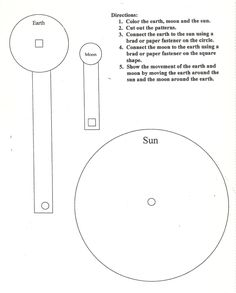 Sun-Earth-Moon model worksheet