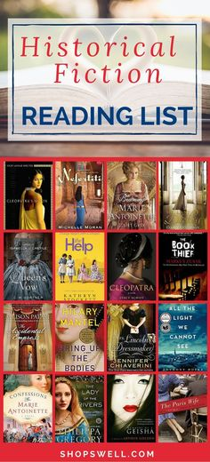 Get lost in a good book. Here are some of Tina's favorite historical fiction novels.