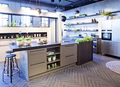 Trendy stijlhuis in de showroom. SieMatic urban keuken