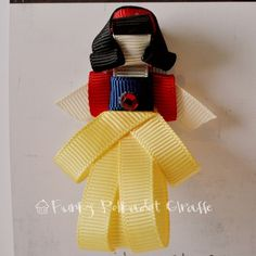 Snow white with ribbon. From Etsy