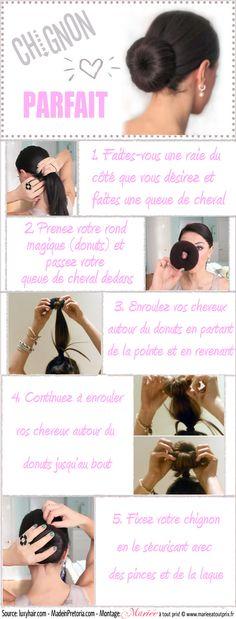DIY - Coiffure de mariée - tutoriel de coiffure à réaliser - Chignon parfait avec une chaussette!!!