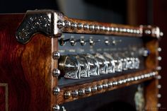 Custom Guitar Amp, Sterling Silver, Bronze, Brass hand carved and cast hardware.   Exotic Woodwork