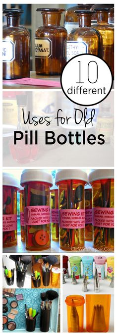 Pill bottles, uses for pill bottles, things to do with pill bottles, popular pin, repurpose projects, DIY projects. Medicine Bottle Crafts, Pill Bottle Crafts, Old Medicine Bottles, Recycled Bottles, Plastic Bottles, Reuse Pill Bottles, Reuse Jars, Reuse Recycle, Recycle Crafts