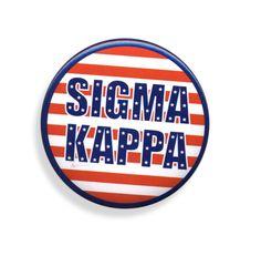 Sigma Kappa Patriotic USA Button  from GreekGear.com