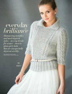 "Photo from album ""Vogue knitting winter 2015 on Yandex. Vogue Knitting, Free Knitting, Knitting Sweaters, Jumpers For Women, Sweaters For Women, Girls Sweaters, Chunky Knitting Patterns, Angora, Vintage Knitting"
