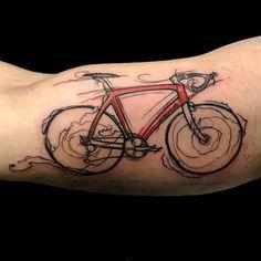 Bike tattoo by barbas82 on Instagram. bike fixie biker cyclist biking sport semiabstract