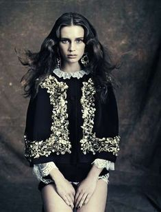 Gothic Opulence Editorials - The Vogue Italia Marie Vatch Feature Showcases a Dark Allure (GALLERY)