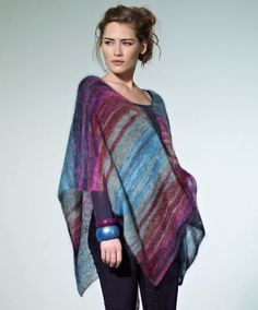 Tranquil Dusk Poncho - Uses lace weight - nice for summer evenings or late spring, early falls chills.