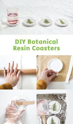 Update your space for the summer with a touch of nature! These DIY Botanical Resin Coasters are easy to make and will look great displayed on your coffee table. You'll need a crystal resin kit, an assortment of pressed leaves, and some polymer clay to achieve these cute coasters.