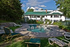 Outdoor pool oasis at Elmhirst's Resort