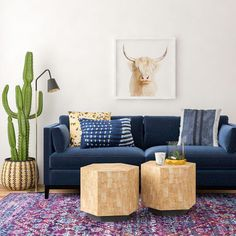 Living Room Ideas U2013 How To Try The Animal Portrait Trend
