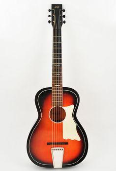 Sale- 100 off -Vintage Acoustic Parlor Guitar - D&H With Painted-On Pickguard
