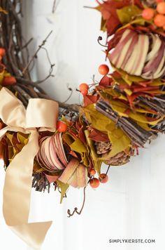 10- minute fall wreath | simplykierste.com