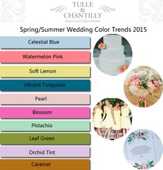 spring summer wedding color ideas and trends 2015