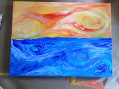 Hot and cold. Acrylic on canvas.