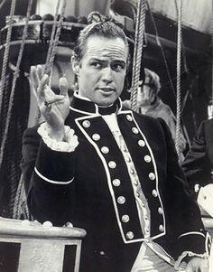 """Marlon Brando en """"Rebelión a Bordo"""" (Mutiny on The Bounty), 1962"""