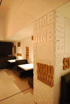 Hermosa tipografía utilizada en diseños de restaurantes - Ochenta y creativo