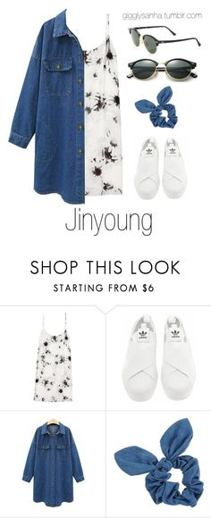"""Casual LA Date // Jinyoung"" by suga-infires ❤ liked on Polyvore featuring TIBI, adidas, Dorothy Perkins and Ray-Ban"