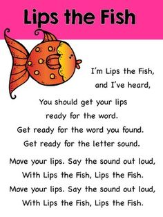 "Introducing ""Lips the Fish!"" I wrote this song to accompany Deanna Jump's Guided Reading unit. Deanna and I have teamed up to create a NEW product, Reading Strategies Activities and Songs {Beanie Babies Guided Reading}. It includes a total of 8 mp3 songs and 110 pages of activities.These are some things people have said about the product:""No better way to help kids remember reading strategies than with songs."