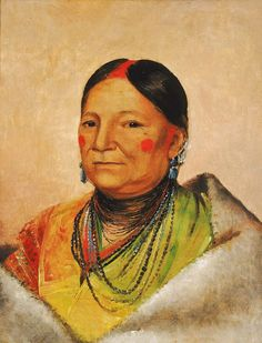 Wounded Bear's Shoulder Wife of the Chief by George Catlin kp
