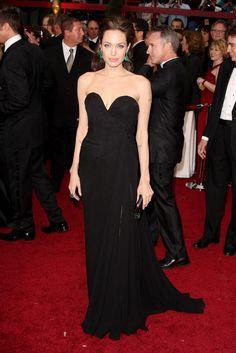 Angelina Jolie in Elie Saab with Lorraine Schwarts earrings & ring - 2009 Academy Awards