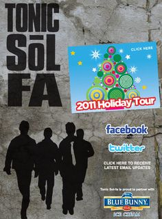 Tonic Sol-Fa: Four talented men and Plastic Santa (but only for the holiday tour). Fun to harrass on Twitter @tonicsol.