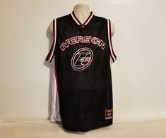 9c8afa46348 Reebok  3 Allen Iverson I3 Mens M Black Basketball Mesh Jersey Authentic  Edition  Reebok