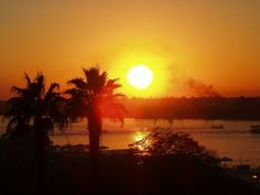 #Sunset in Egypt #yourweather