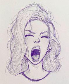 Illustration / Drawing / Woman / Tired / Art