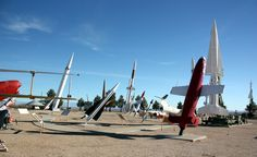 3.5 hours south of Albuquerque is the White Sands Missile Range Museum, just outside Las Cruces. Missile Park (shown here) features more than 50 different missiles & rockets that have been launched at the White Sands Missile Range.