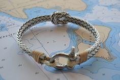 Men's Bracelet Nautical Jewelry Sailing Hardware Rope Surfer Kayaker Sailor