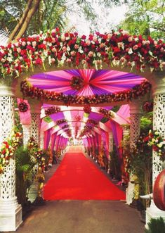 Ideas Wedding Reception Entrance Pathways For 2019 Wedding Gate, Wedding Reception Entrance, Wedding Hall Decorations, Marriage Decoration, Wedding Mandap, Wedding Ceremony Backdrop, Flower Decorations, Wedding Venues, Aisle Decorations