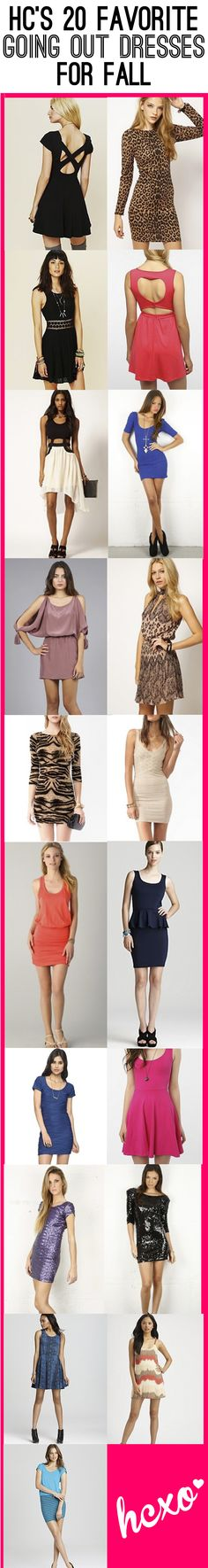 Click here to see our 20 fave fall going out dresses!