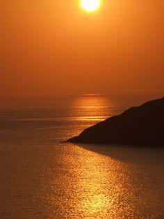 Greek island sunset.