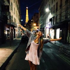 Imagen de girl, paris, and night
