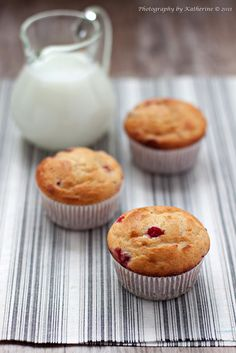 Lovely sounding Ricotta Red Currant Muffins.