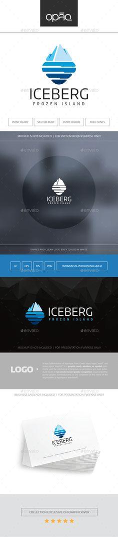 Iceberg Logo Template Vector EPS, AI Illustrator #logotype Download here: http://graphicriver.net/item/iceberg-logo/16635669?ref=ksioks