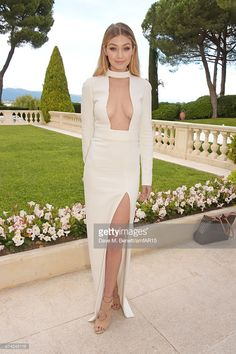 Model Gigi Hadid arrives at amfAR's 22nd Cinema Against AIDS Gala, Presented By Bold Films And Harry Winston at Hotel du Cap-Eden-Roc on May 21, 2015 in Cap d'Antibes, France.