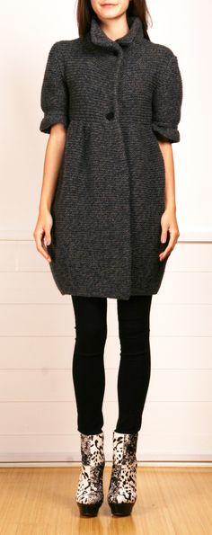Chunky Knit Coat