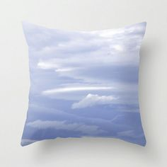 Dreamy Blue Pillow Cover ~ Cloud Photo ~ Fluffy Home Decor ~ Skyscape Photography by #NancyJCreates $35 ~ Use #coupon code PIN10 for 10% off now.